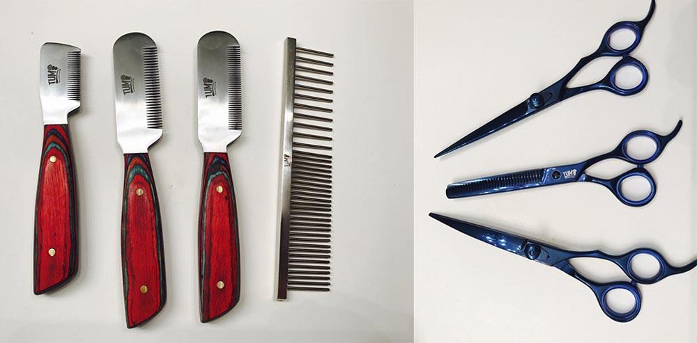 Diferentes accesorios para usar en Pet Grooming
