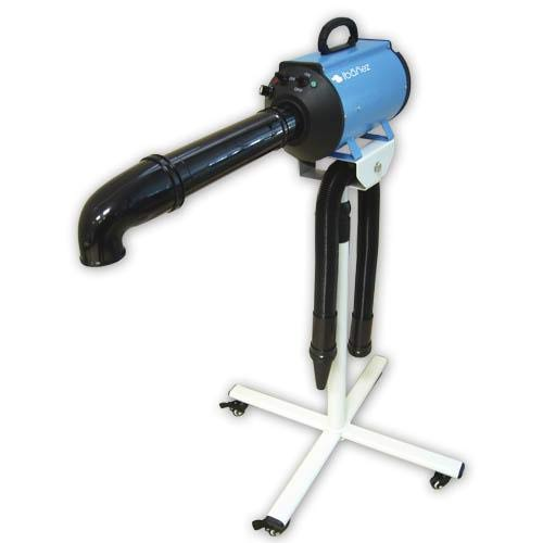 secadora de pelo manos libres azul